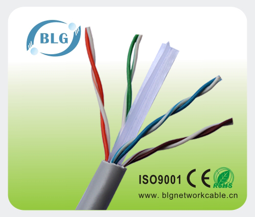 Solid bare copper utp cat6 data cable for structured cabling