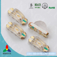 New product 2017 1206 smd led side view BI COLOR red and yellow green With Long-term Technical Support