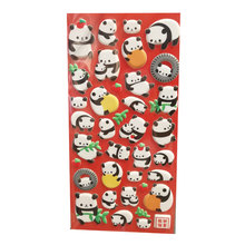 3D puffy sticker leuke panda cartoon custom ontwerp sticker