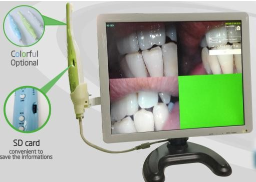 Economic 5 mega pixels dental intraoral camera with monitor for dental chair