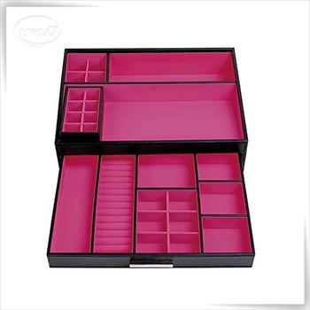 Handmade Black Pu Leather Makeup Cosmetic Box Jewelry Box Buy Cosmetic Box Handmade Cosmetic Box Makeup Cosmetic Box Product On Alibaba Com