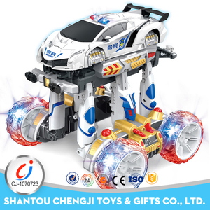 2017 New products remote control stunt deformation robot car toy
