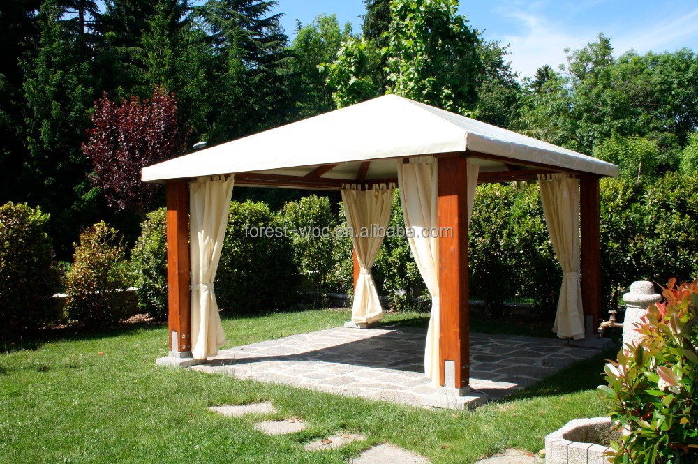 gartenlaube mit Moskitonetz wpc pavillons Garten Pool Pavillon ...