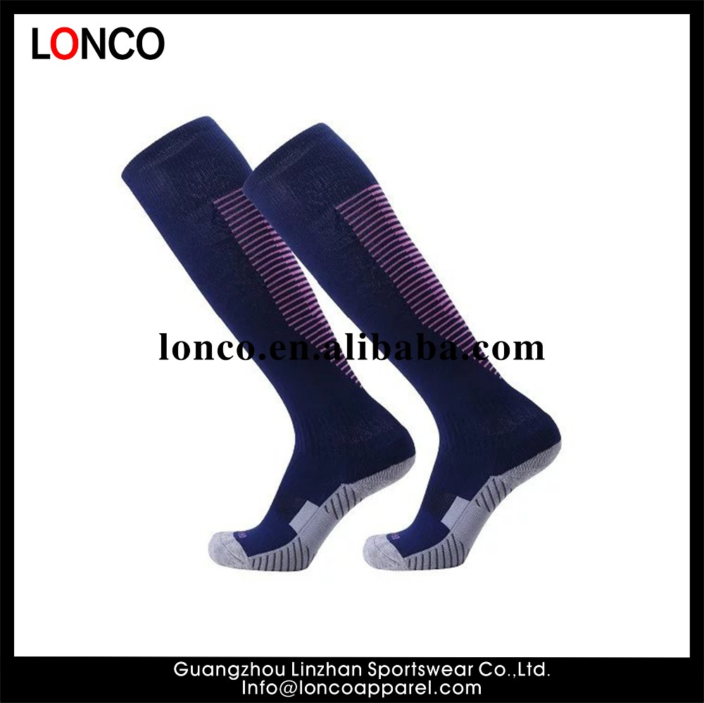 d600f925990a 3 stripes nylon cotton ankle support soccer socks for kids Custom cool dry  club rugby socks for men