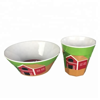 Hot Selling Houseware Exporter Reusable Melamine Dinnerware Set