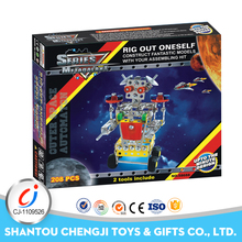 Funny education toys diy plastic robots for children