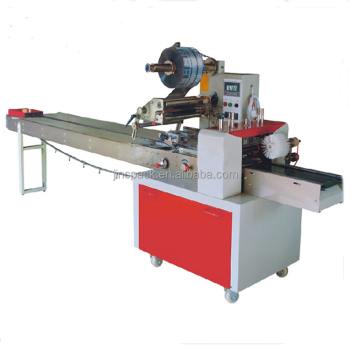 Horizontal pillow packing machine packing bread