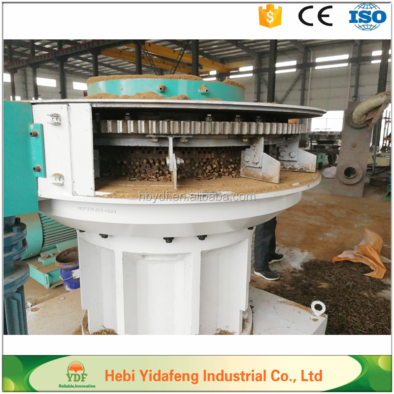 Vertical ring die biomass wood sawdust pellet mill machine