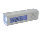 FM Radio Digital Clock with with flashlight torch LED Light and Hand Grip