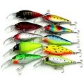 Colorful 10pcs Lot 10pcs 11cm Plastic Fishing Lures Minnow Hooks Crankbaits Baits Tackle Fishing Bait Artificial