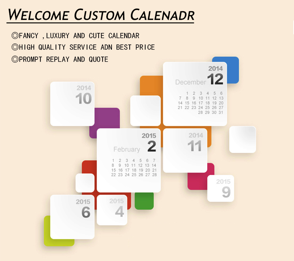 2015 Unique Design Table Calendar,Funny Desk Calendar For 2016 ...