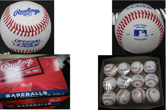 professional baseball Rawlings baseball
