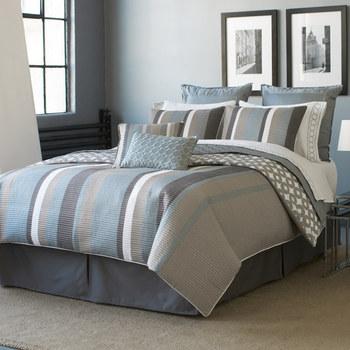 Uganda Super King Size Stripe Bedding Set