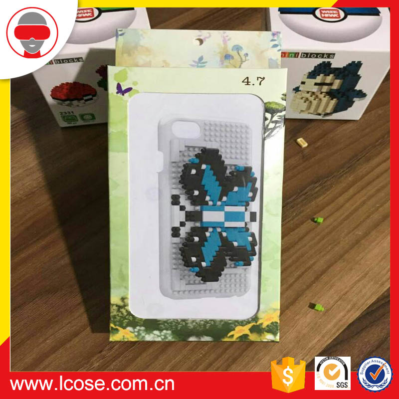2017 Lcose DIY bricks phone case building blocks smartphone cover for iphone protective shell