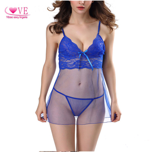 wholesale Girl Sexy nighties Sheer Baby doll Women sexy Lingerie Women