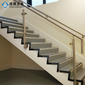 Xiamen 304 316 stainless steel glass stair banister for safety