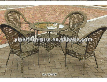 On Sale!!6 White ,12 Black Rattan Chairs And 3 Black Tables IN