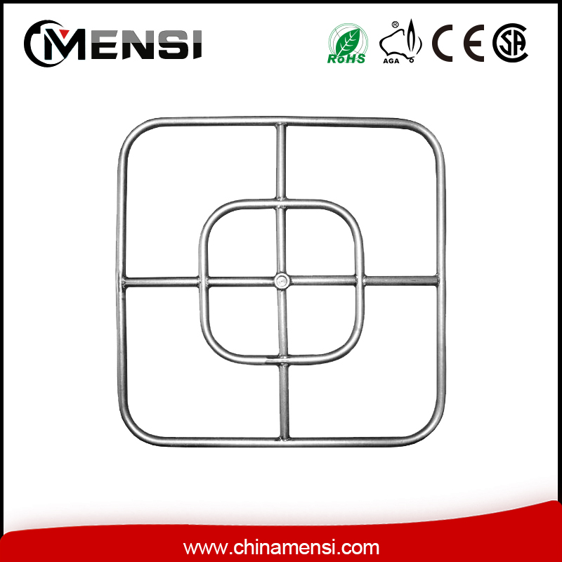 stainless steel square fire pit burner ring