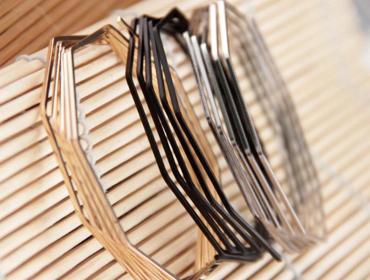 Оптовая продажа медь реферат Купить лучшие медь реферат из Китая  b54035 minimaism золото серебро черный покрытием женщин аннотация меди проводной браслеты