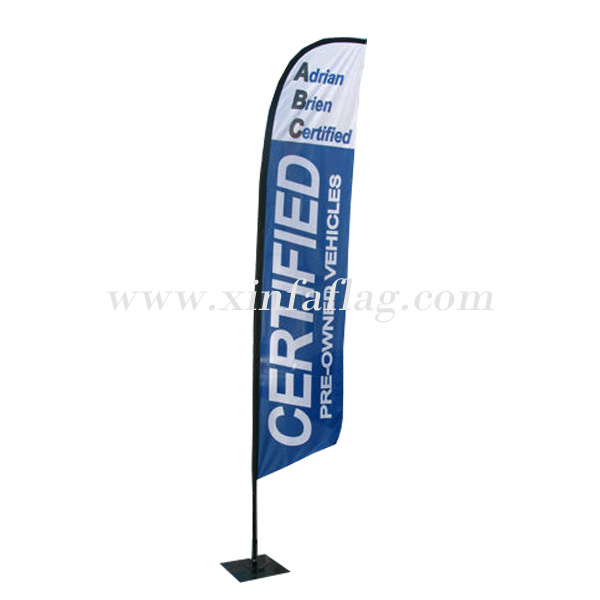 Custom nylon promotional beach wind feather banner flag feather flag