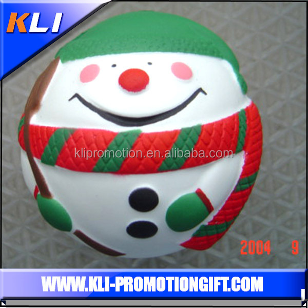 Christmas Decoration Santa Claus Ball PU Foam Ball Small PU Stress Ball