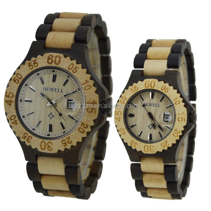 c5ea2ec77be4f Bewell Hot Selling 2 years Warranty Japan Quartz Natural Wood Watch  Handmade Valentine Gift