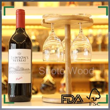 Wooden Wine Glass Holder Bamboo Hanging Wine Glass Rack Buy