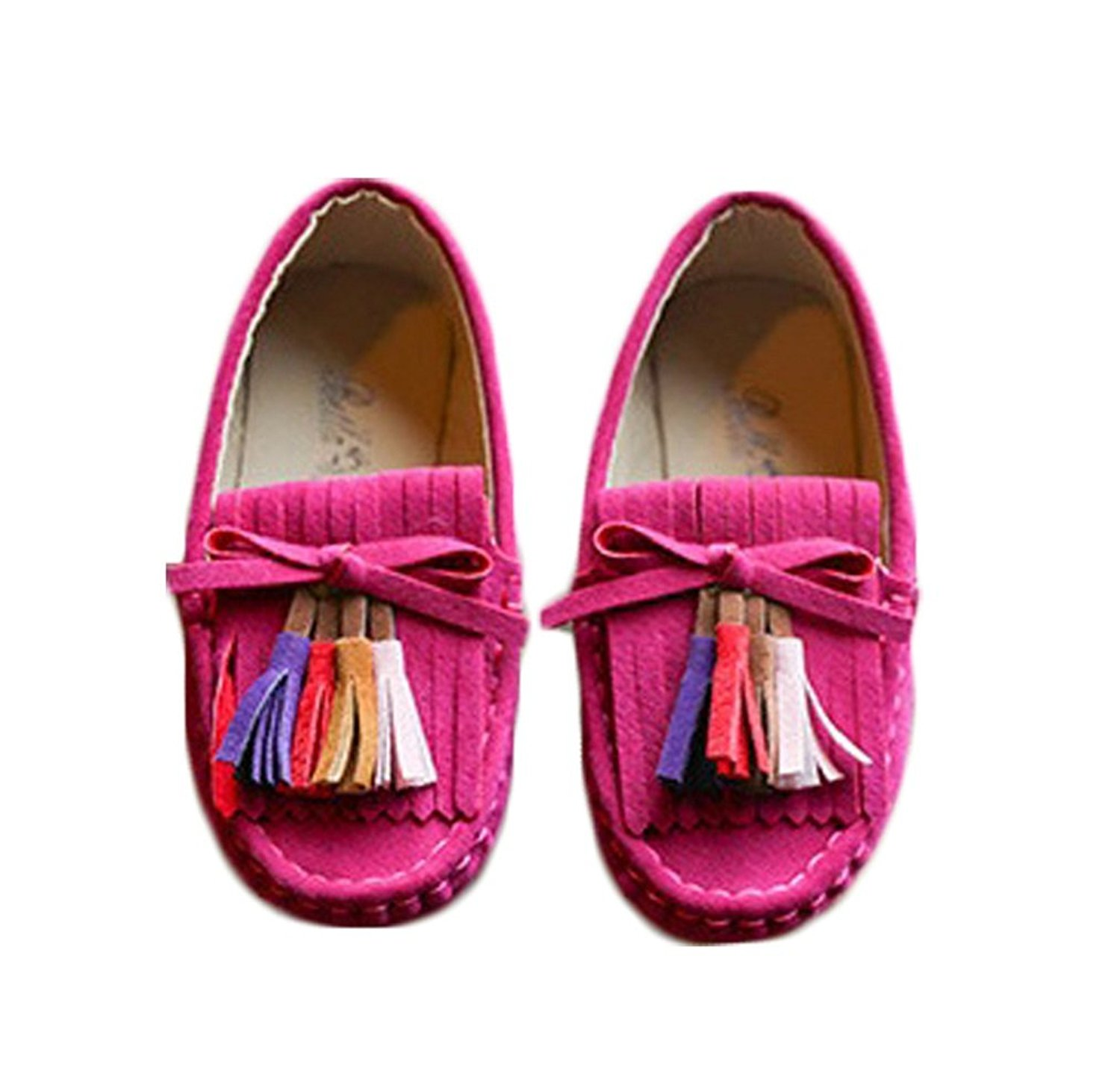 Bakerdani 2017 Style Fashion Autumn Girls Sweet Princess Doug Shoes Cute Candy Color with Tassels
