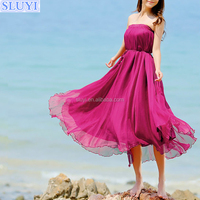 fashion latest long skirt with kurti for women bohemian style beach chiffon maxi skirt ladies pictures of long skirts and tops