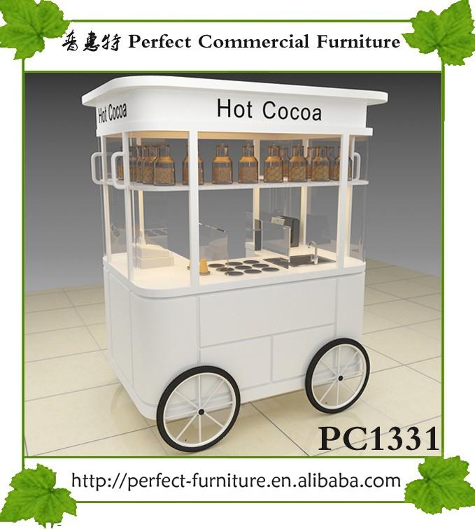 Mini Drink Ice Cream Kiosk Mobile Coffee Juice Bike Cart