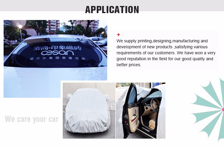Custom logo Printed Nylon Mesh Rear Sunshade