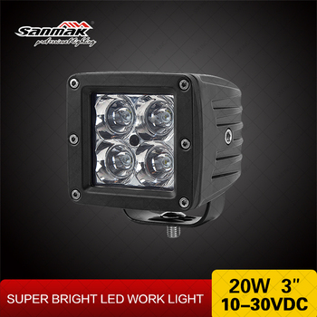 bright cube led work light 20w truck light 3 inch led tractor work. Black Bedroom Furniture Sets. Home Design Ideas