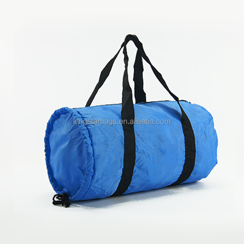 Light Weight Ripstop Fabric Foldable Barrel Travel Bag