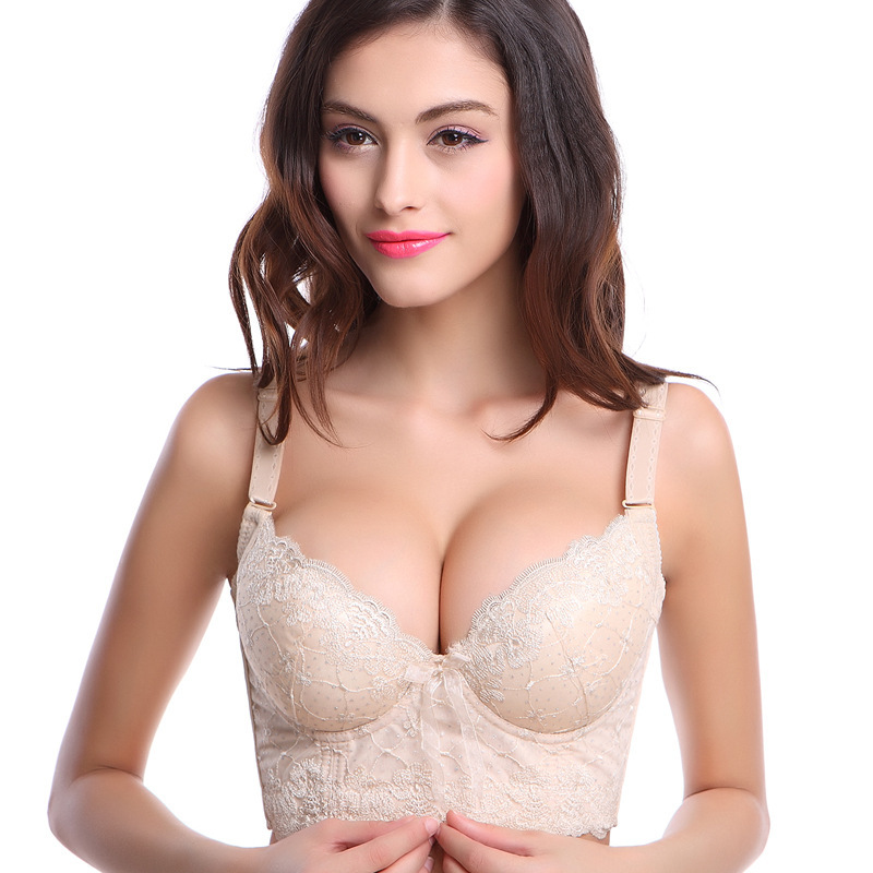e84db18360f0 Get Quotations · 2015 sexy lady big size super push up women bra Embroidery  underwear 5 Hook-and