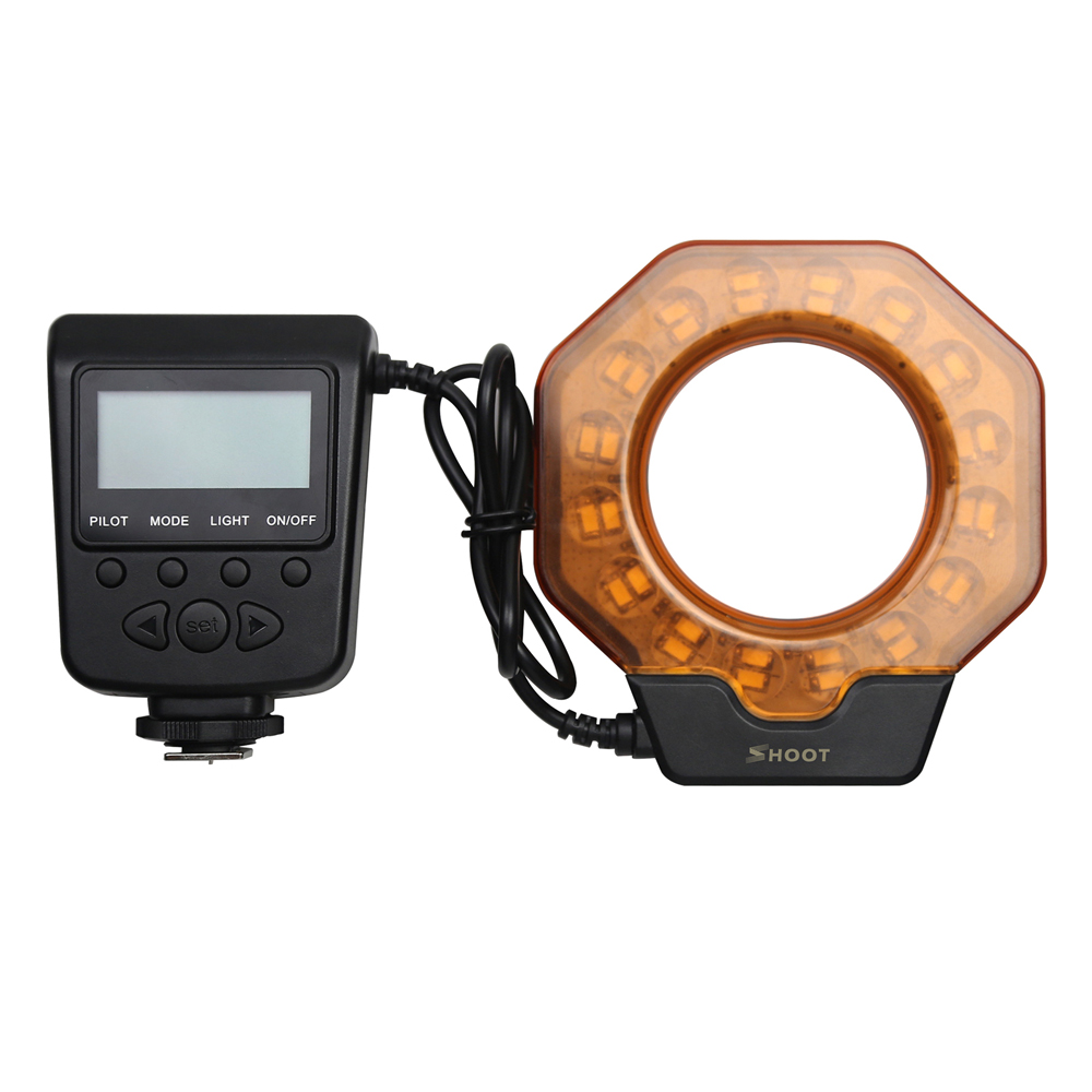 for Nikon Canon Olympus DSLR Camera Macro LED Ring Speedlight Flash & LED Video Lamp SL-103C