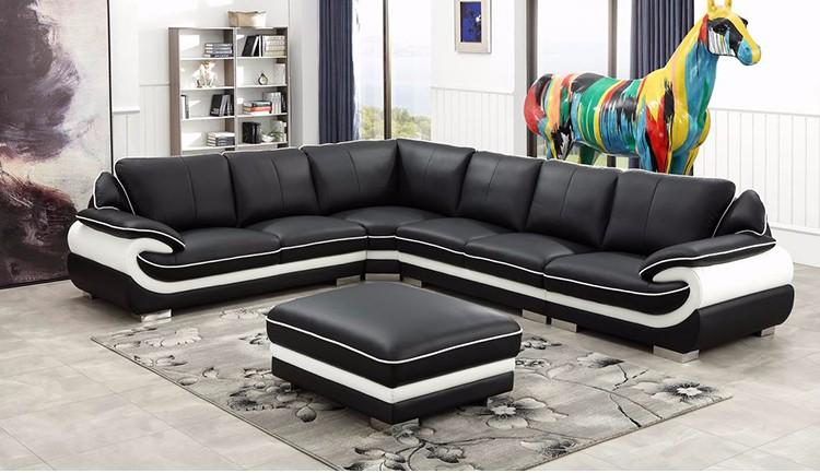 Tremendous Luxury Design Black Bonded Leather Living Room Sofa Furniture Buy Living Room Sofa Furniture Luxury Design Sofa Furniture Black Leather Sofa Pabps2019 Chair Design Images Pabps2019Com
