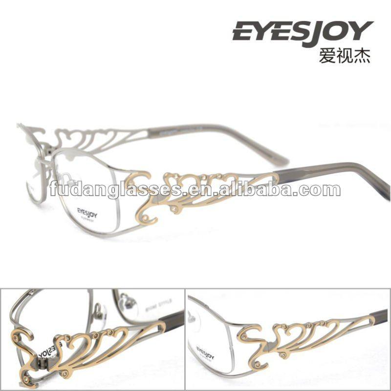 cheap designer frames c6po  Cheap Designer Eyewear Eyesjoy 1112 Lady Crystal Optical Frames Wholesale  Glasses Stock Displays Eruo Design Spectacle