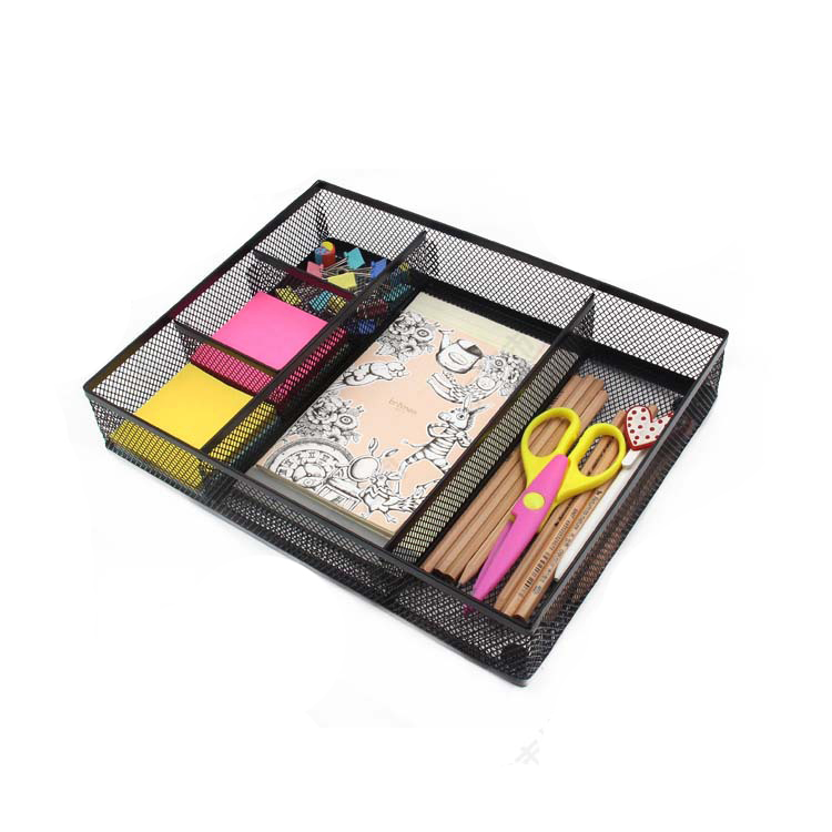 desk stationery sundries organizer tray metal pen holder clip table pen holder