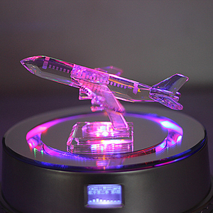 Crystal airplane model crystal civil aviation gift for birthday gift crystal crafts.