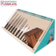 Fashion desktop wooden kitchen cutting tool acrrylic cover knife display cases box