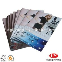 Folding garment catalog and Brochure with customized design and logo
