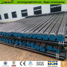API 5L/ASTM A106/ASTM A53 Gr.B Seamless Steel Pipe with black color or varnish.BE according to ANSI B16.25.
