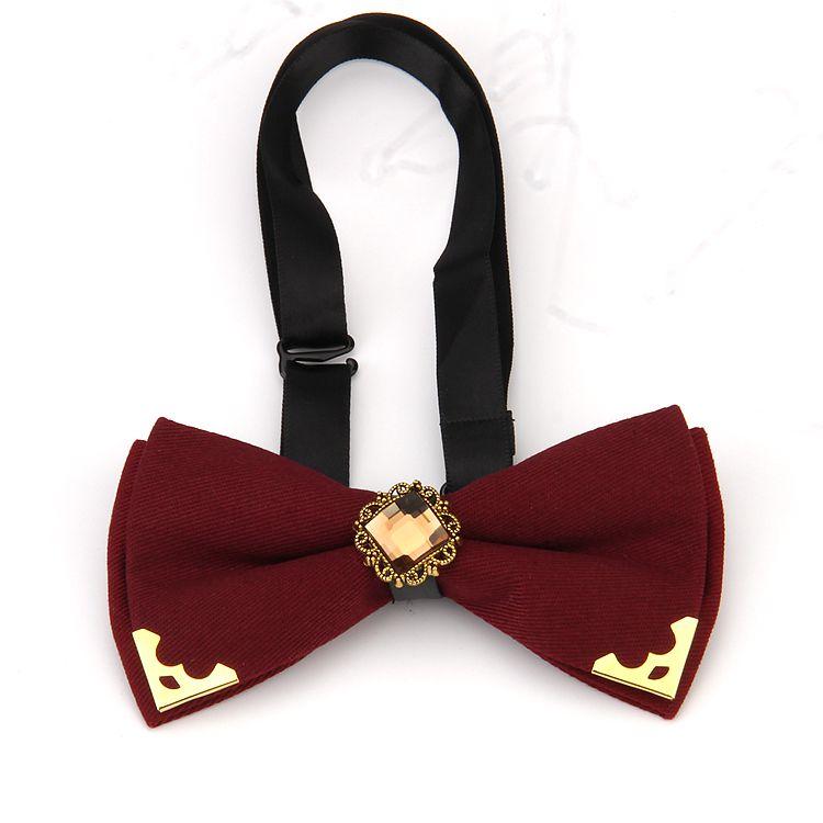 Высококачественный модный Банкетный Свадебный хлопковый галстук-бабочка со стразами