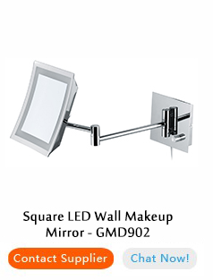 Wall Mount Led Cosmetic Mirror 10 X Magnifying Mirror With