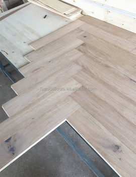 Unfinished White Oak Fishbone Parquet Wood Flooring