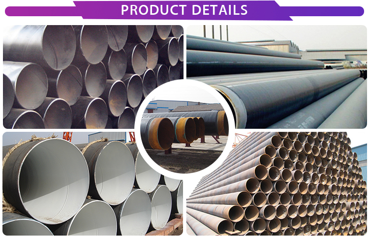 Concrete lined spiral welded 400mm diameter steel pipe