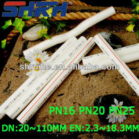 din standard glass fiber ppr pipe for water