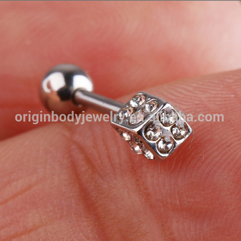Multiple Gems Dice Stainless Steel Helix Tragus Piercing Jewelry Buy Helix Piercing Jewelry Helix Tragus Piercing Tragus Piercing Jewelry Product On