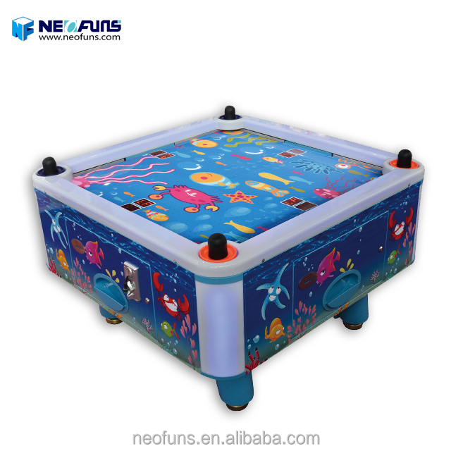 Beste indoor arcade kids game machine 4 persoon air hockey tafel elektronische sport air hokcey tafel verkoop