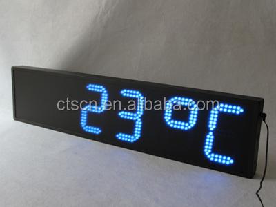 ext rieur led horloge affichage de la temp rature. Black Bedroom Furniture Sets. Home Design Ideas
